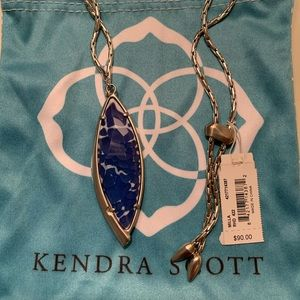 NWT Kendra Scott Milla Necklace in Blue and Silver